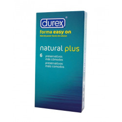Durex easy on natural plus 6 unidades