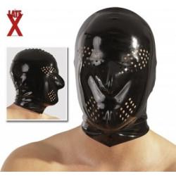 Máscara de Latex con agujeros en la boca
