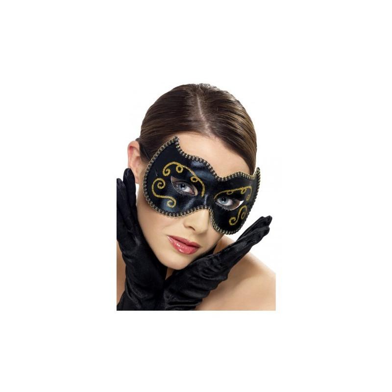 Mascara veneciana negra y dorada smilffy's