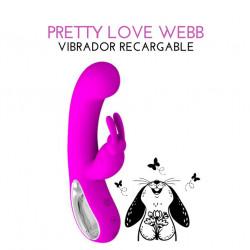 Vibrador conejito pretty love webb