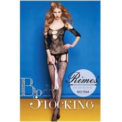 Bodystocking Rimes negro 7044