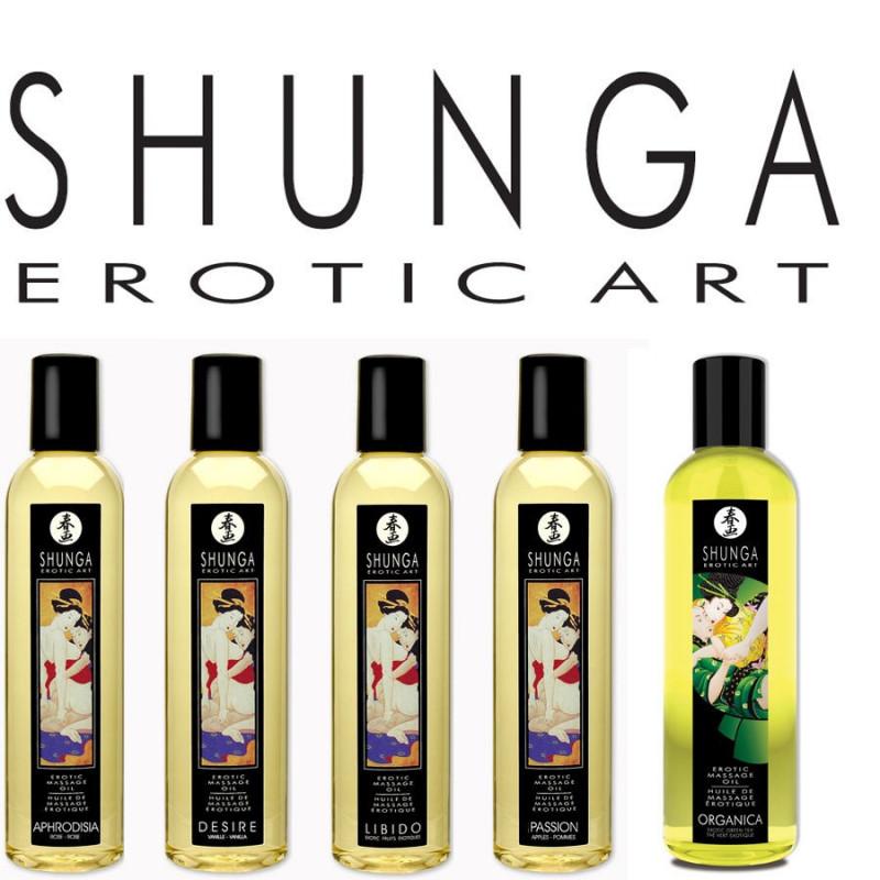 Aceites masaje Shunga