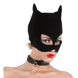 Mascara gato ojos abiertos y orejas