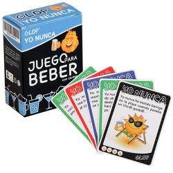 Juego de cartas para beber Yo nunca..